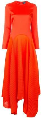 SOLACE London asymmetric midi dress