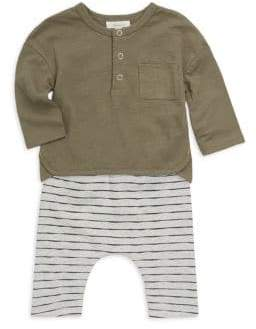 Miniclasix Baby Boy's Two-Piece Top& Pants Set