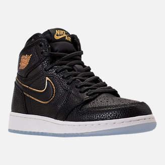 Nike Kids' Grade School Air Jordan Retro 1 High OG Basketball Shoes