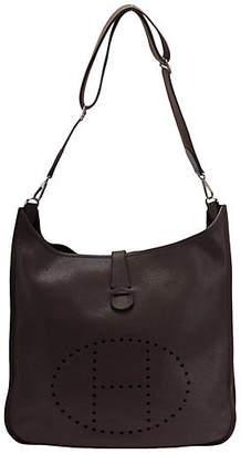 One Kings Lane Vintage HermAs Maxi Chocolate Brown Evelyne Bag - Vintage Lux