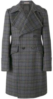 Bottega Veneta checked double-breasted coat