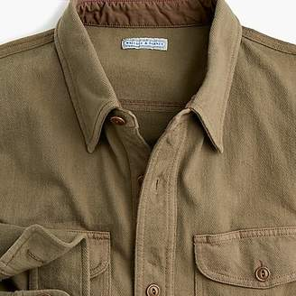 J.Crew Wallace & Barnes jersey shirt in garment-dyed herringbone