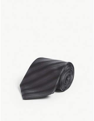 Lanvin Diagonal stripe silk tie