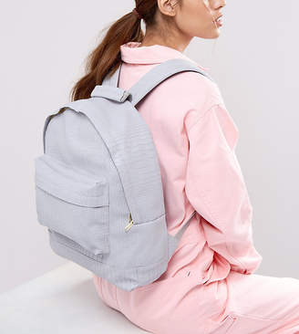 Mi-Pac Exclusive Faux Croc Backpack in Gray