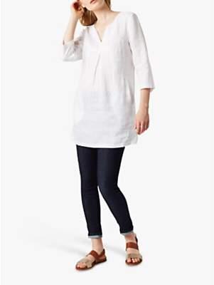 White Stuff Linen Tunic Top, White