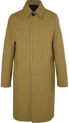 Ami Oversized Houndstooth Virgin Wool And Cotton-Blend Coat