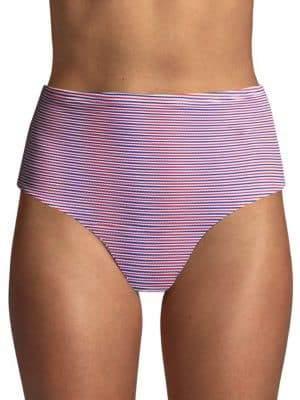 Onia Leah Striped Bikini Bottom