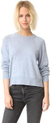 T by Alexander Wang Birdseye Crew Crop Sweater $310 thestylecure.com