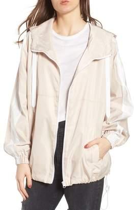 KENDALL + KYLIE Stripe Hooded Jacket