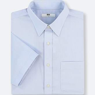 Uniqlo Men's Dry Easy Care Dobby Short-sleeve Shirt (online Exclusive)