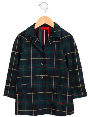 Sonia Rykiel Girls' Plaid Button-Up Coat