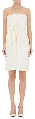 Lanvin WOMEN'S COTTON-BLEND EMBROIDERED STRAPLESS DRESS
