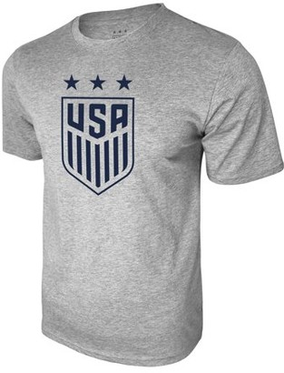 Us Soccer US Soccer USSF Logo Men's Gray Tee Large