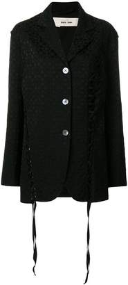 Damir Doma lace-up detailed textured blazer