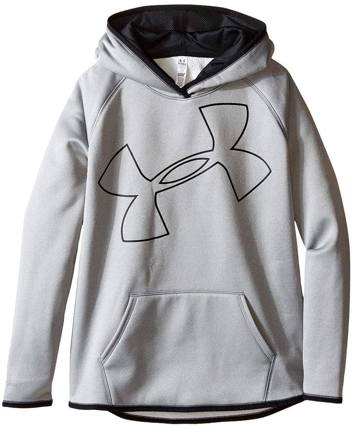 Under Armour Kids Storm Armour Fleece Big Logo Hoodie Girl's Sweatshirt
