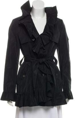 Dolce & Gabbana Ruffle-Accented Trench Coat