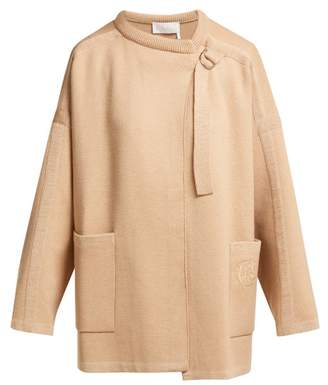 Chloé Single Breasted Wool Blend Jacket - Womens - Camel
