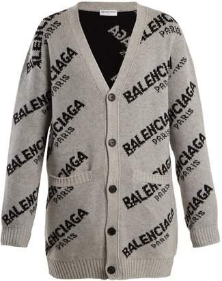 Balenciaga Long-sleeved logo cardigan