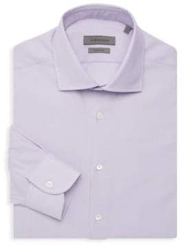 Corneliani Wrinkle Free Brick Print Dress Shirt