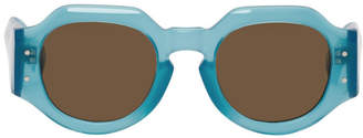 Dries Van Noten Blue Linda Farrow Edition 174 C7 Angular Sunglasses