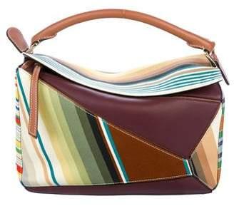 Loewe Striped Medium Puzzle Bag