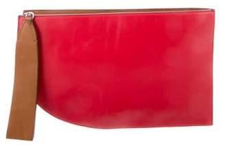 Oscar de la Renta Leather Wristlet Clutch