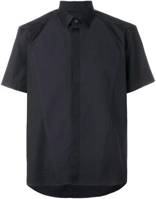 Les Hommes short sleeve shirt with contrast piquet
