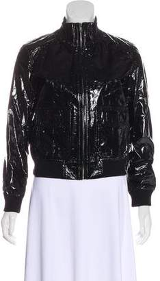 R 13 Patent Leather Bomber Jacket w/ Tags