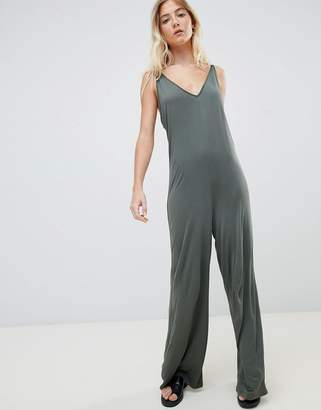 042e8b29d7b Asos Design DESIGN strappy jumpsuit with plunge front