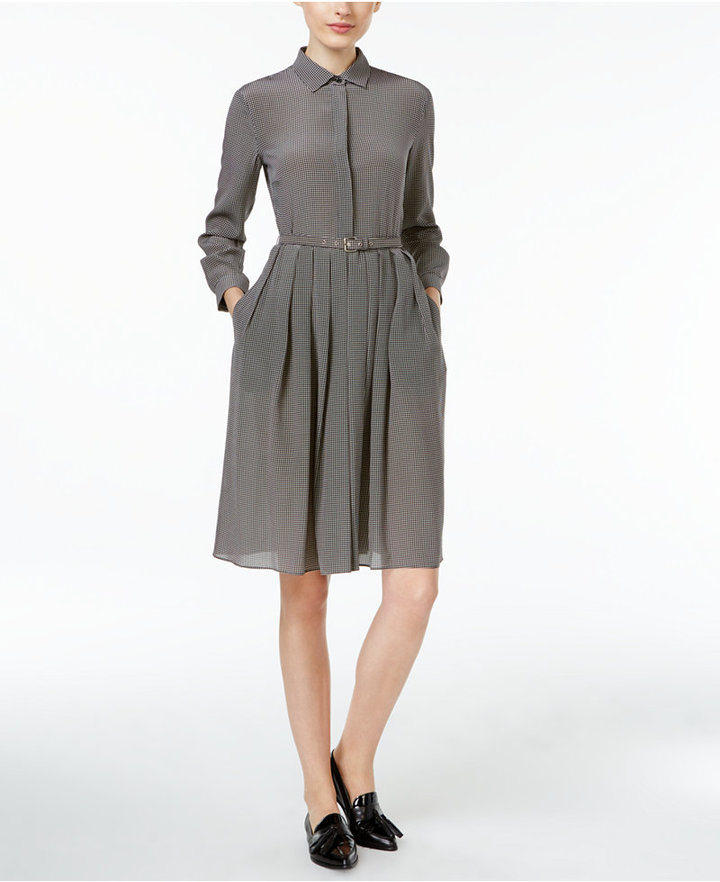 Max Mara Weekend Max Mara Perim Silk Belted Shirtdress