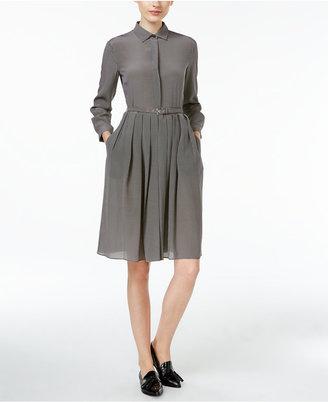 Weekend Max Mara Perim Silk Belted Shirtdress $525 thestylecure.com