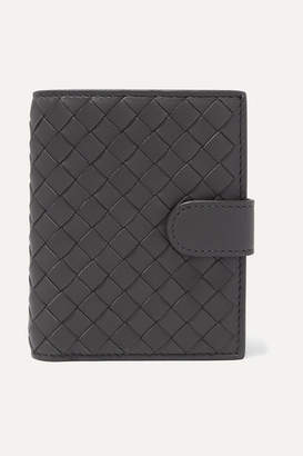 Bottega Veneta Intrecciato Leather Wallet - Gray