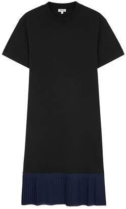 Kenzo Black Pleated Cotton T-shirt Dress