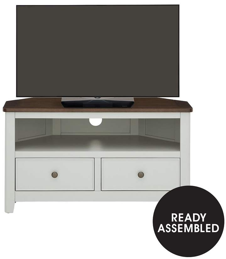 Luxe Collection - Painted Newport Corner TV Unit - Fits Up To 38 Inch TV