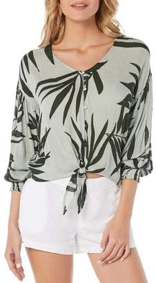 Michael Stars Paradiso Tie Front Blouse