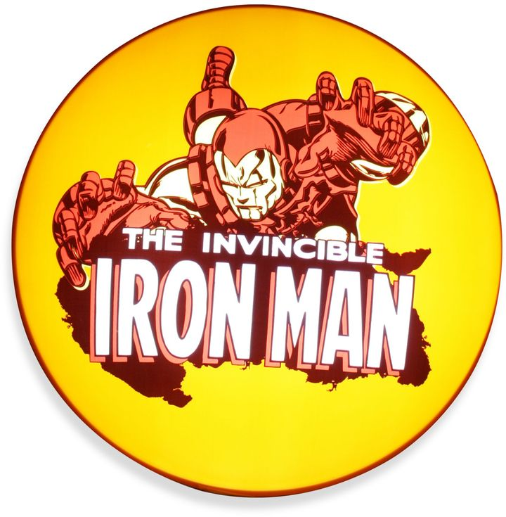 Iron Man Ironman Wall-Hanging Disc Light