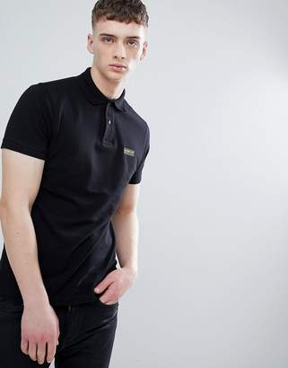 Barbour International Essential Polo in Black