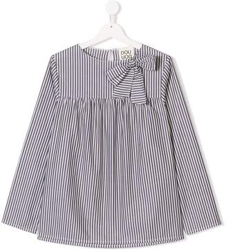 Douuod Kids bow detail striped blouse