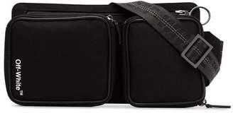 Off-White black Cordura logo print belt bag