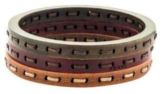 Fendi Leather 3 Bangle Stacking Set