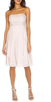TFNC Kara Pleated Strapless Dress