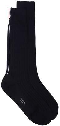 Thom Browne Tricolour Trim Mid-Calf Socks