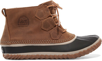 Sorel - Out N AboutTM Waterproof Nubuck And Rubber Boots - Brown