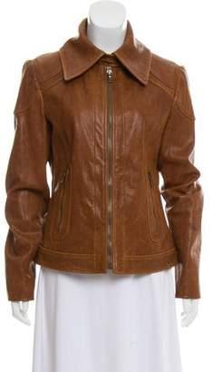 Dolce & Gabbana Tailored Leather Jacket
