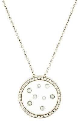 Movado 18K Diamond Ono Pendant Necklace