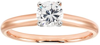 14k Rose Gold 1/2 Carat T.W. IGL Certified Diamond Solitaire Engagement Ring