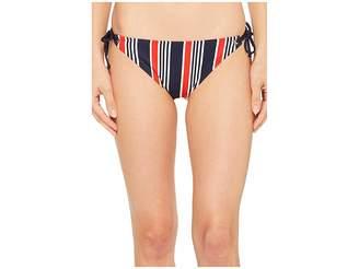 Tommy Hilfiger True To Red, White Blue String Bikini Bottom Women's Swimwear