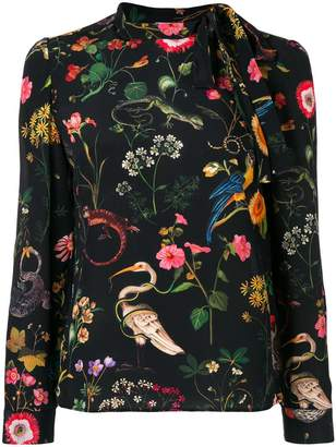 RED Valentino floral animal printed blouse