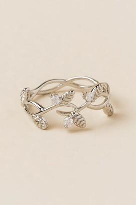 Artemis Filigree Leaves Ring - Silver