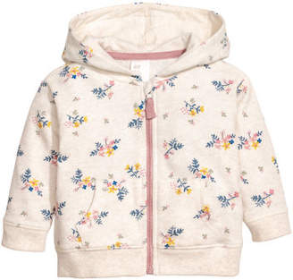H&M Patterned Hooded Jacket - Gray